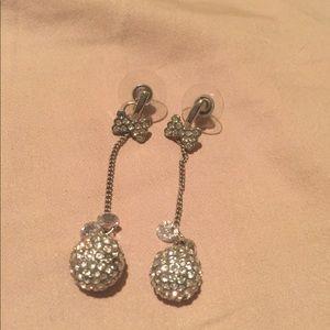 Rhinestone disco ball earrings